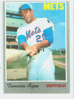 1970 Topps Baseball 50 Tommie Agee New York Mets Very Good