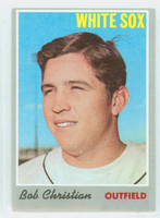 1970 Topps Baseball 51 Bob Christian Chicago White Sox Very Good to Excellent