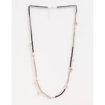 Stella & Gemma - Black/ Grey Mixed Metals Necklace