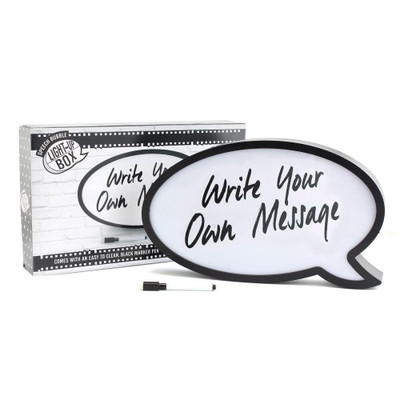 Speech Bubble With Pen Light-Up Box