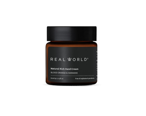 Real World Natural Hand Cream - Blood Orange & Harakeke