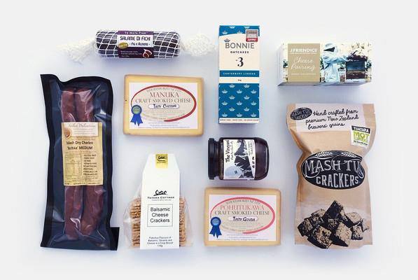 Gift Basket NZ | Willow & Wolfe | Cheesy Gift Hamper