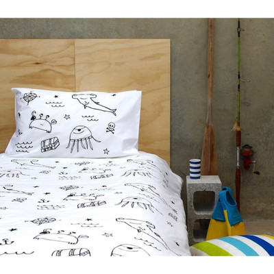 Henry and Co Backyard Kid Duvet Cover - Black Pirate Gang