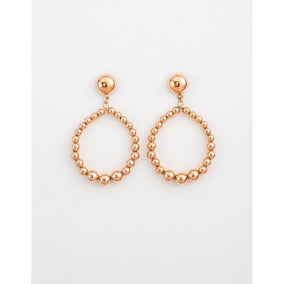 Stella & Gemma - Rose Gold Bead Hoop Earrings