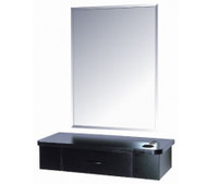 B&S Styling Stations  Black Single Drawer
