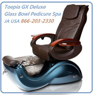 Toepia GX  Deluxe Glass Bowl Pedicure Spa