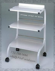 Athena Three Shelf Beauty Trolley  with Power Strip