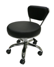 "Black Pedicure Texas Tech Stool Adjustable Height: 13"" to 15"""