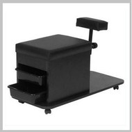 Technician Pedicure Cart Black