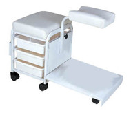 Technician Pedicure Cart White