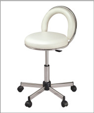 "White JoJo Sr. Tech Stool Adjustable  Height 18""-23"""