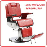 Athena Red Original Lincoln Barber Chair