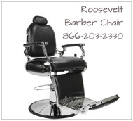Roosevelt Barber Chair Black, Brown or Crimson Red