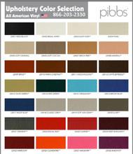 Pibbs Vinyl Color Chart