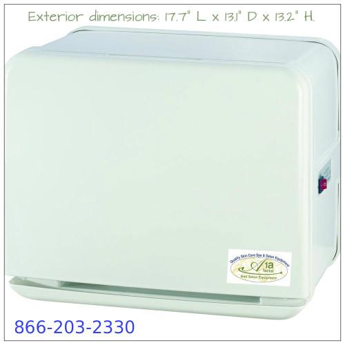 20 Liter Towel Warmer with UV Light Sterilizer - White / Holds 75 Washcloth Towels