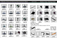 B&S Brand Barber and Salon Styling Chair Parts pg.1