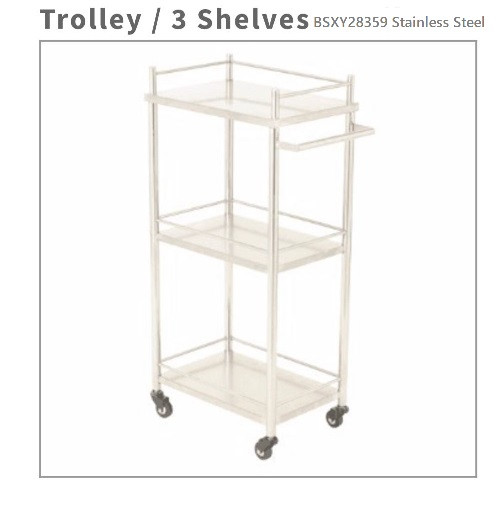 BS-XY-28359 stainless steel trolley