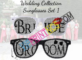 BRIDE & GROOM CUSTOM WEDDING SUNGLASSES SET 1
