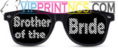 BROTHER OF THE BRIDE CUSTOM WEDDING SUNGLASSES BB BLOCK