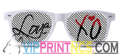 VALENTINES LOVE CUSTOM SUNGLASSES