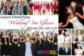 100 PACK WEDDING CUSTOM SUNGLASSES PARTY FAVORS