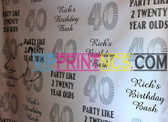 8' X 10' STEP & REPEAT BACK DROP NO GLARE MATTE BIRTHDAY SWEET 16