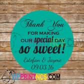 CUSTOM THANK YOU OR FAVOR BAG LABEL DECOR BIRTHDAY SWEET 16