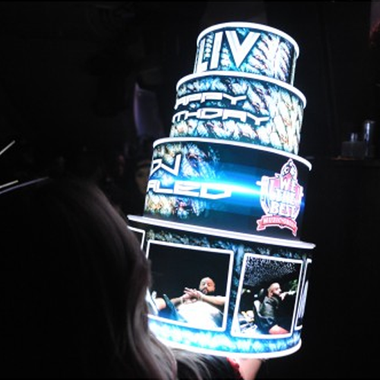 VIP LED BIRTHDAY CAKE BOTTLE PRESENTER HOLDER Bottle Presenters customized for your specific needs