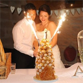 WEDDING CAKE CANDLE SPARKLERS SILVER 45 SEC