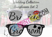 2 PACK WEDDING CUSTOM SUNGLASSES PARTY FAVORS BRIDE AND GROOM