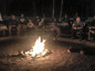 Always great to cook smores around the fire and have conversation.