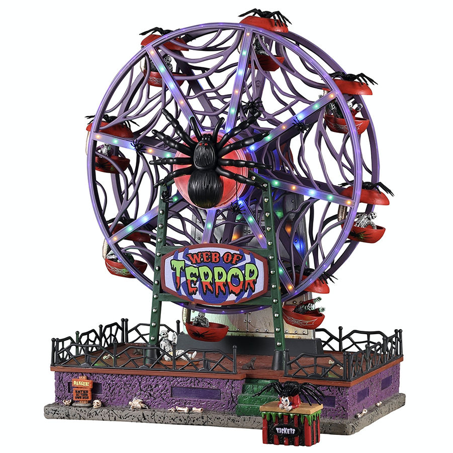 Lemax Web Of Terror Ferris Wheel