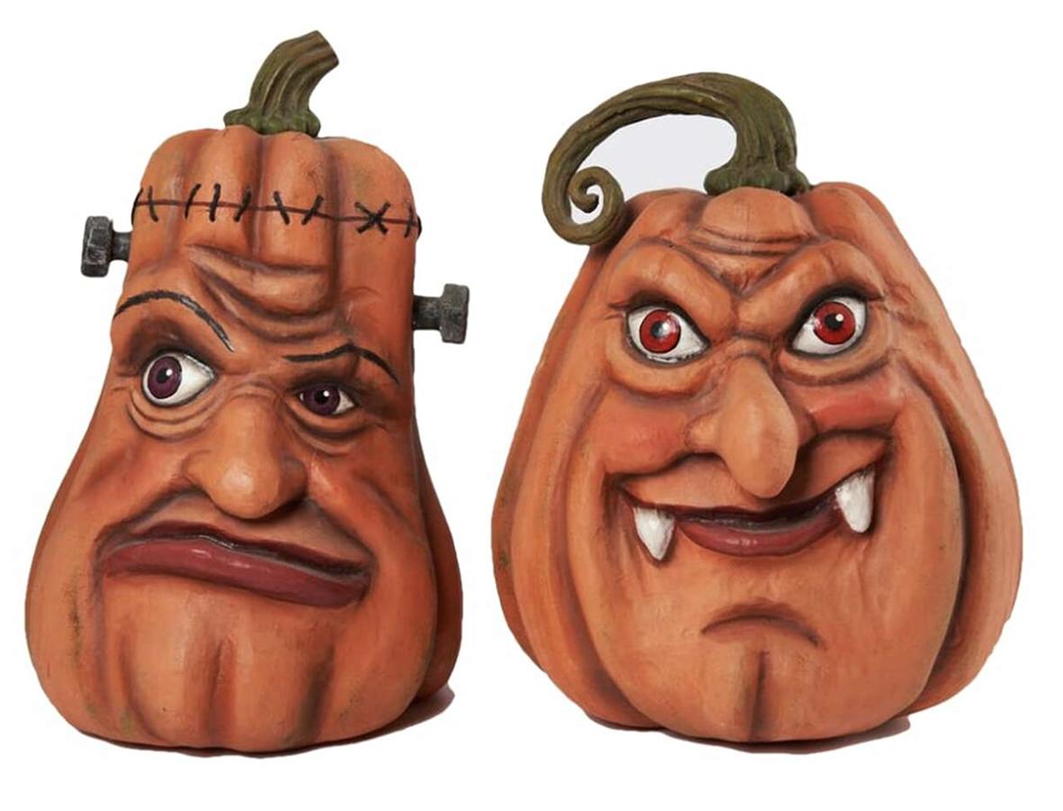 Katherine's Collection Haunted Pumpkins (30cm Set of 2)