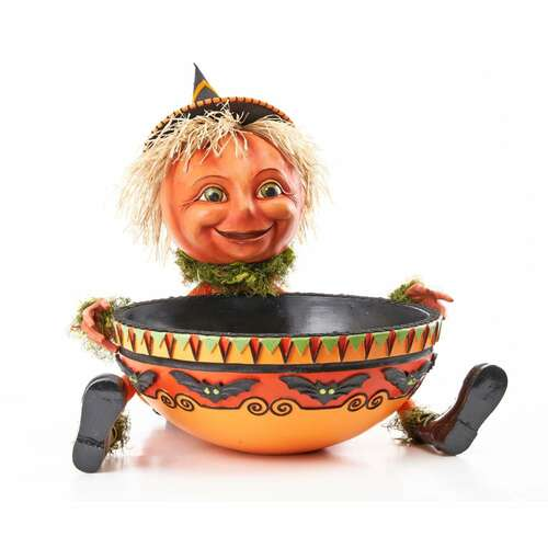 Katherine's Collection Halloween Pumpkin holding a Candy Bowl 60cm