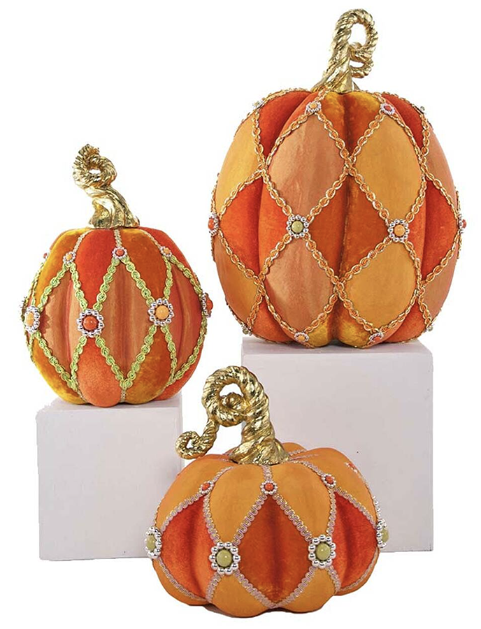 Katherines Halloween Pumpkins (Set of 3. Tallest 38cm.)