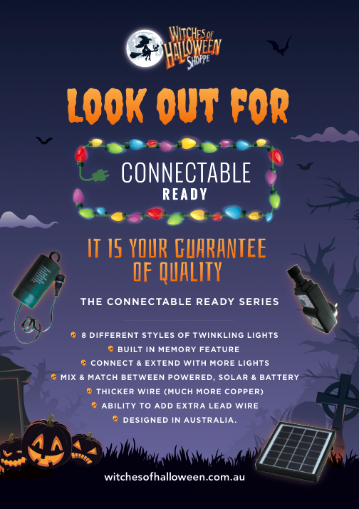 Halloween Lighting Connectable Ready