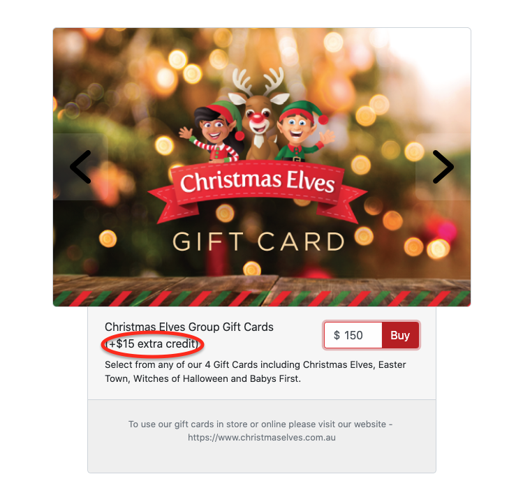Buy Christmas Elves Group Gift Cards Here!