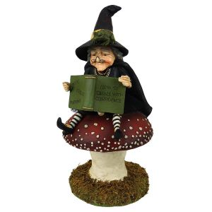 Bethany Lowe Witch on Toadstool 36.8cm