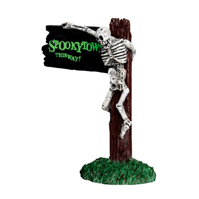 Spooky Town This Way Sign