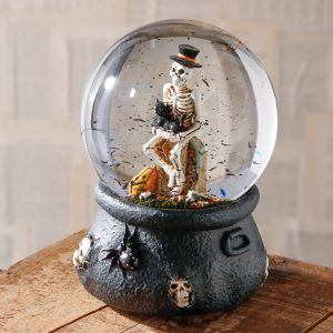 Raz Imports Musical Skeleton Water Globe - 17.5cm