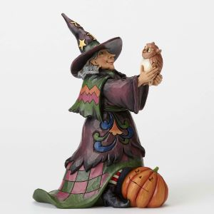 Heartwood Creek Witch with Owl 24cm