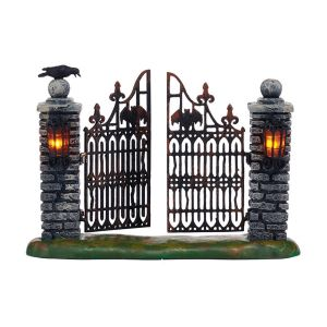 Addams Family Spooky Wrought Iron Gates