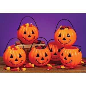 Trick or Treat Pumpkin Baskets - Set of 6