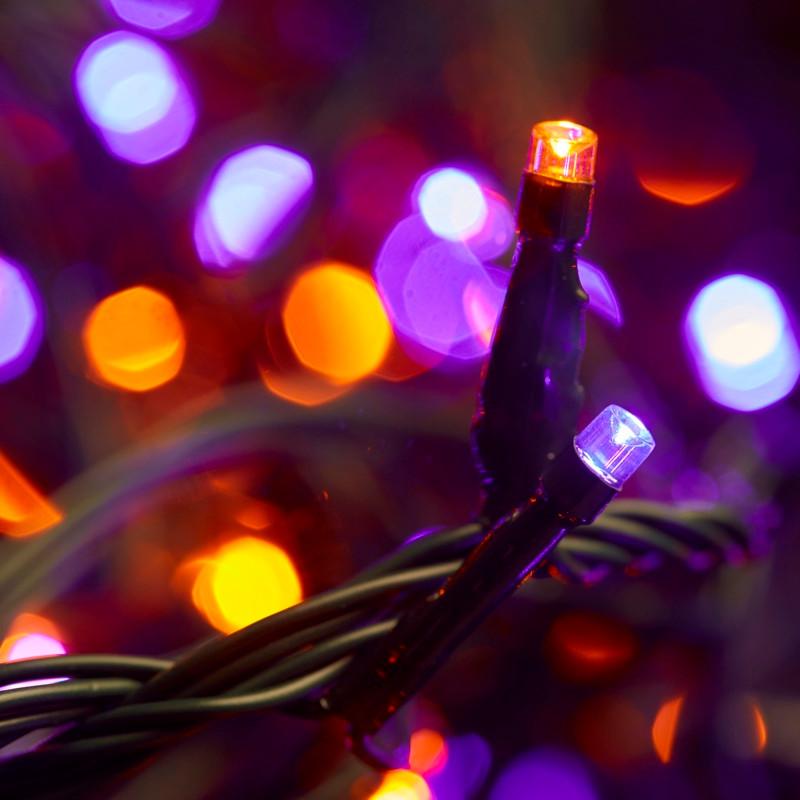 separation shoes 766ec a7372 400pc Connectable LED Icicle Lights - Orange/Purple