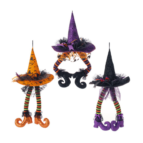 Hanging Witch Hat with Legs (3 Colours)