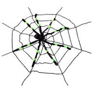 Neon Spider in Web