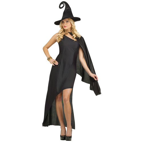 Ladies Black Magic Witches Costume