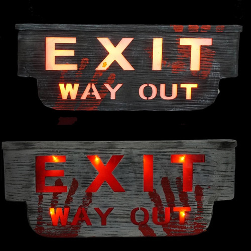 Spooky Exit Sign