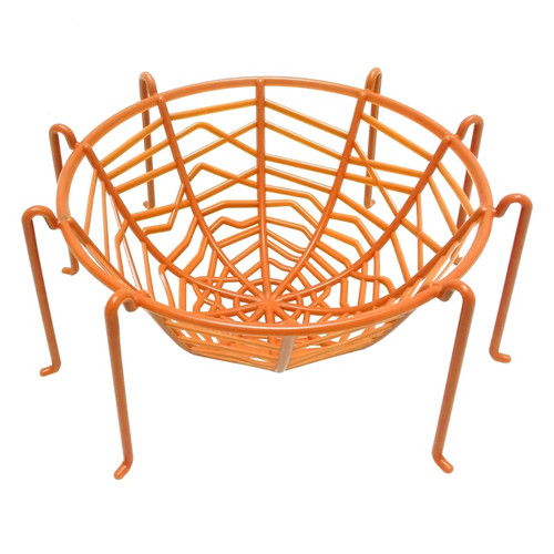 Orange Spider Web Bowl