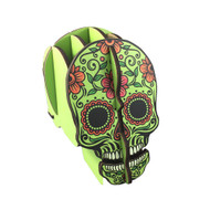 Green Candy Skull Pen Holder Puzzle